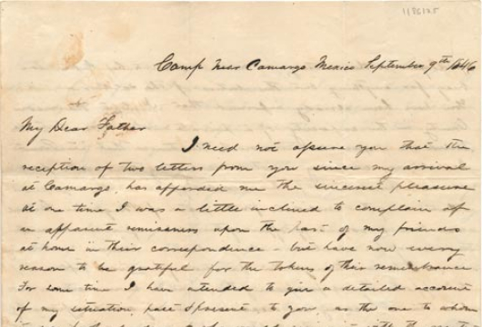 James Baldwin Dorman, Letter, 9 September 1846, Accession 41180, Personal  Papers Collection, Library of Virginia, Richmond, Virginia.