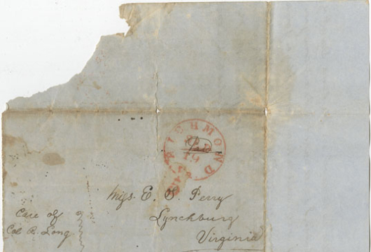 Chichester L. Long, Letter, 18 September 1850, Accession 42100, Personal Papers Collection, Library of Virginia, Richmond, Virginia.