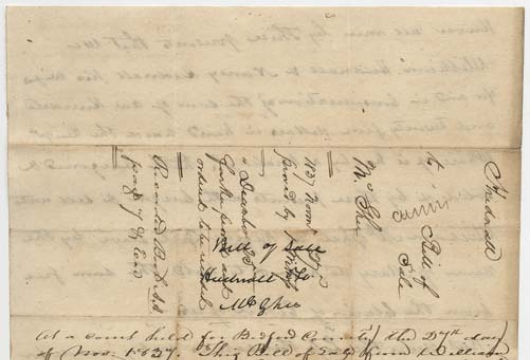 William Hudnall, Bill of Sale, 23 September 1837, Accession 40266, Personal Papers Collection, Library of Virginia, Richmond, Virginia.