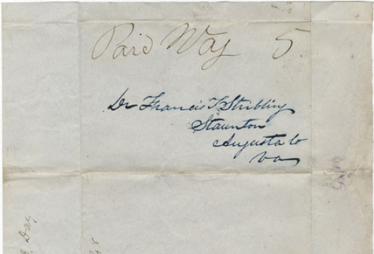 William B. Day, Letter, 27 September 1848, Accession 37156, Personal Papers Collection, Library of Virginia, Richmond, Virginia.