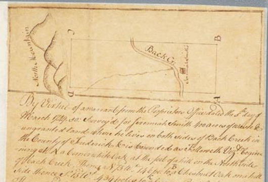 Northern Neck Land Office, Northern Neck Surveys, 1697, 1722–1781, Library of Virginia, Richmond, Virginia.