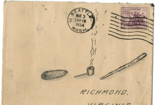 Letter from Guy Williams, Seattle, to Corn Cob Pipe Club, Richmond, 2 March 1934, WRVA Radio Collection, 1925–2000, Accession 38210, Business Records Collection, Library of Virginia, Richmond, Virginia.