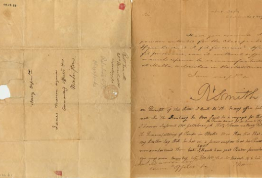 Barron Family, Papers, 1802–1841, Accession 22126, Personal Papers Collection, Library of Virginia, Richmond, Virginia.