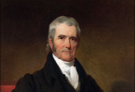 John Marshall as Chief Justice, Henry Inman, 1834, Oil on canvas, Special Collections, Library of Virginia, Richmond, Virginia