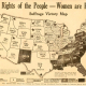 The Rights of the People�Women are People. Suffrage Victory Map, 1920