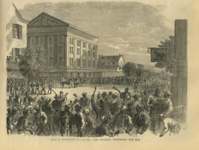 Riot in Richmond, May 11, 1867—The Soldiers Dispersing  the Mob