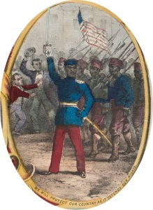 We Will Protect Our Country as it Defends Our Rights. Detail from The Fifteenth Amendment. Celebrated May 19th, 1870