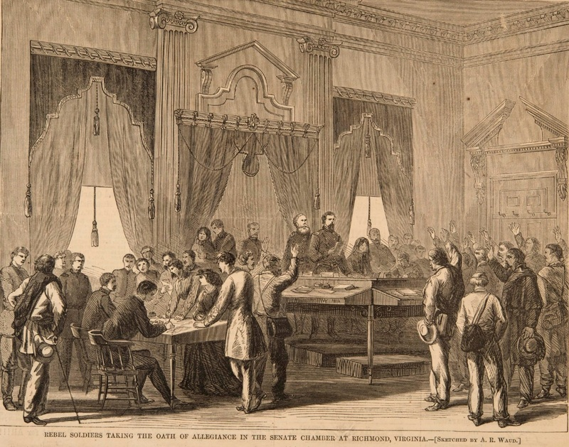 Rebel Soldiers Taking the Oath of Allegiance, 1865