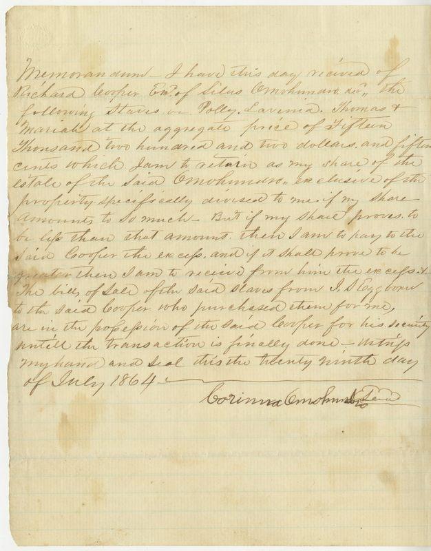 Corinna Omohundro's signature