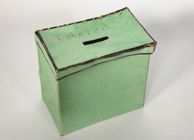 """King George County Ballot Box labeled """"Colored"""""""
