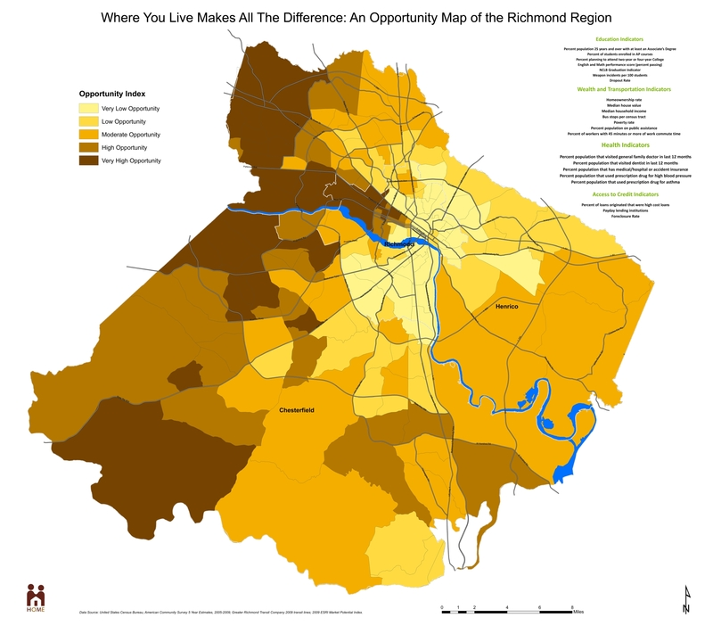 Where You Live Makes All the Difference: An Opportunity Map of the Richmond Region, 2013.