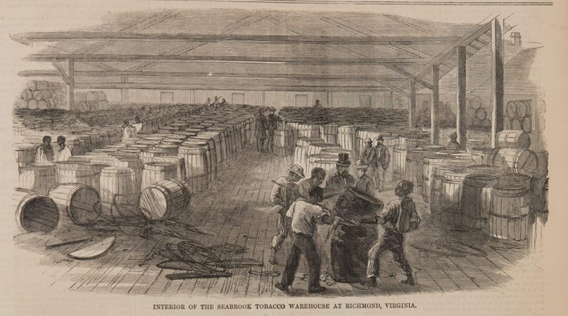 Interior of the Seabrook Tobacco Warehouse at Richmond, Virginia