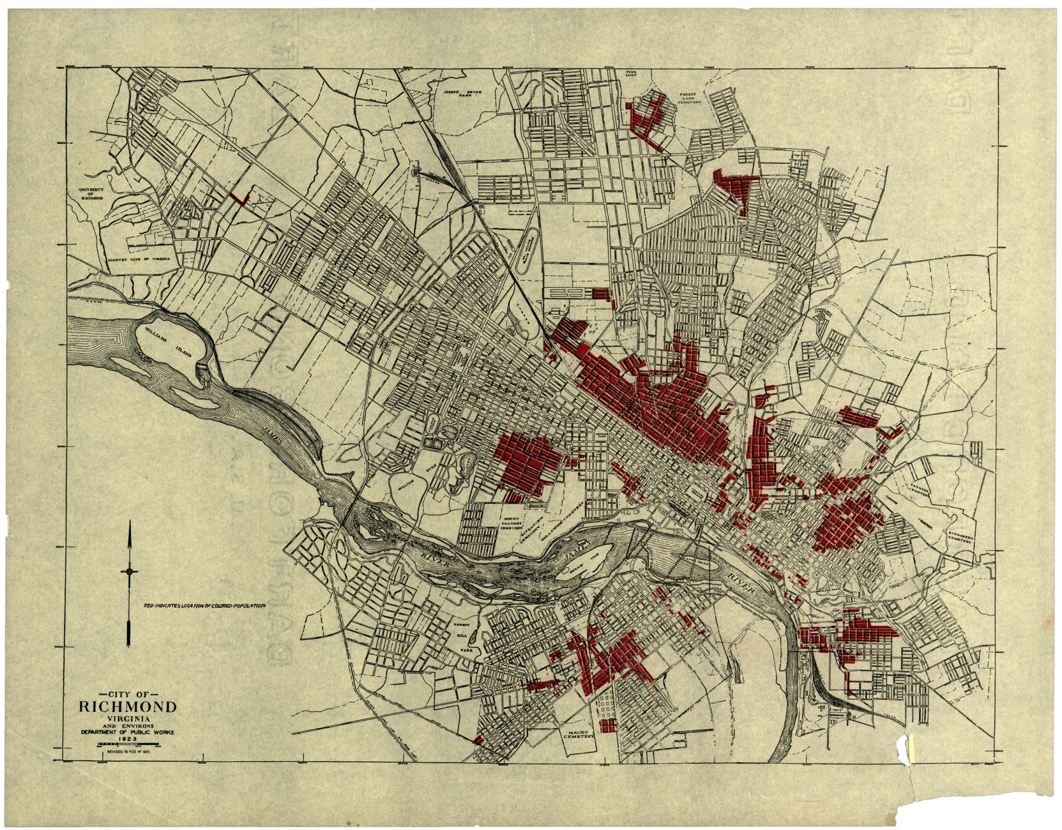 Map of Richmond, Department of Public Works, 1923 · Online ... City Map Of Richmond on