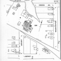 Sanborn Fire Insurance Map of Hampton, Virginia, Sheet 12 (enlargement), July 1910, 809 Washington Street, home of Mrs. Ida V. Belote