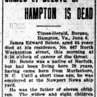 James E. Belote of Hampton is Dead