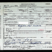 Death Certificate of Charles C. Curtis (died on December 3, 1960)