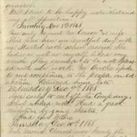 Jacob Yoder's Diaries, entries of December 8-24, 1868.