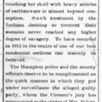 Blot on Hampton (Editorial)