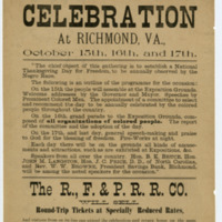 Colored People's Celebration at Richmond, Va., 1890