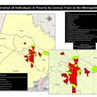 Concentration of Poverty by Census Tract in Metropolitan Area, 2010-12.
