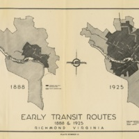 Early Transit Routes, 1888 and 1925, Bartholomew, 1943