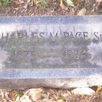 Gravestone of Charles M. Pace, Sr. (1876-1936),  St. John's Church Cemetery, Hampton, Virginia.