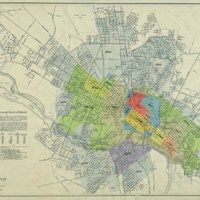 Map Showing Territorial Growth of Richmond, Department of Public Works, 1923.