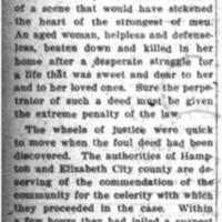 The Murder at Hampton (Editorial)