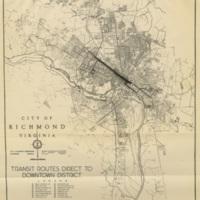 Transit Routes Direct to Downtown District, Batholomew, 1943