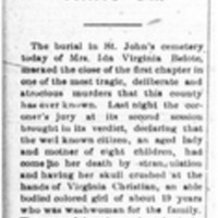 Murder of Mrs. Belote