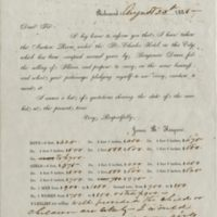 Circular Letter from James B. Hargrove, Richmond.
