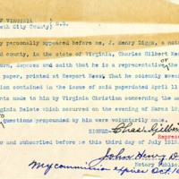 Correspondence between Charles G. Mears and Governor William Hodges Mann
