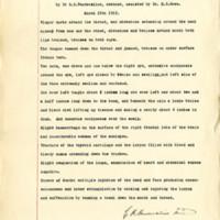 Post motem examination of the body of Mrs. Ida V. Belote