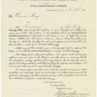 Circular letter to David May from Stuart Burns