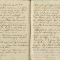 Jacob Yoder's diary entries from April 10-17, 1869