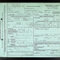 Death Certificate of Robert K. Curtis (died July 13, 1913)