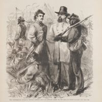 The Confederate Generals Edward Johnson and G. H. Stewart Taken to the Rear by Negro Cavalry, May 12th, 1864