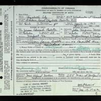 Delayed Birth Certificate for Barbara Sarah Elizabeth Belote (born April 14, 1907)