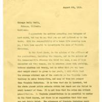 Governor William Hodges Mann to E. Val Putnam
