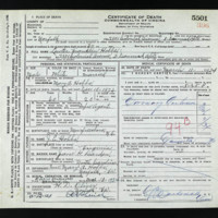Death Certificate of Lewter Franklin Hobbs (died March 11, 1934)