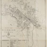 Proposed Immediate Post-War Transit Plan, Bartholomew, 1946.