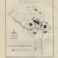 Location of Negro Areas, Bartholomew, 1946