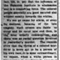 The Murder In Hampton (Editorial)