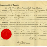Respite of Virginia Christian granted on July 18, 1912