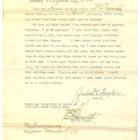 Sworn affidavit of Julia Taylor, friend of Mrs. Ida Belote