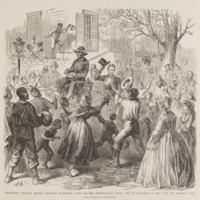 President Lincoln Riding through Richmond, April 4th, 1865