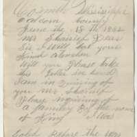 Jennie Brown, to Sheriff, Mecklenburg County, Virginia