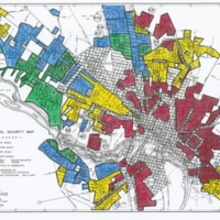 Home Owners' Loan Corporation (HOLC) Map of Richmond, 1937.