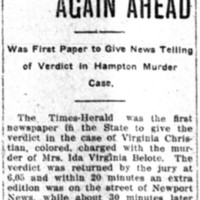 Times-Herald Again Ahead