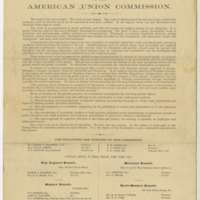 Circular of the American Union Commission
